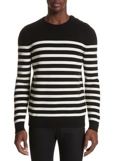 Yves Saint Laurent Saint Laurent Stripe Wool Sweater