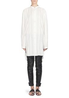 Yves Saint Laurent Striped Cotton Shirt Dress