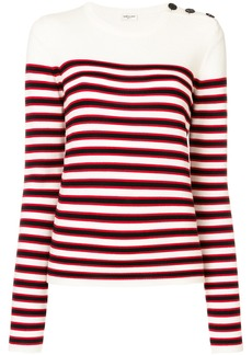 Yves Saint Laurent striped fitted sweater