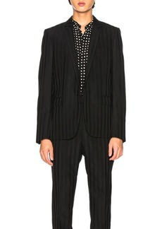 Yves Saint Laurent Saint Laurent Striped Long Blazer