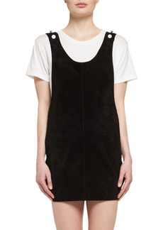Saint Laurent Suede Apron Dress
