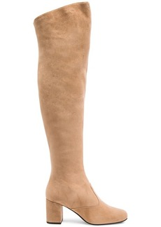 Saint Laurent Suede BB Thigh High Boots