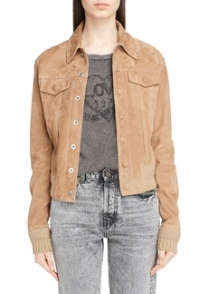 Yves Saint Laurent Saint Laurent Suede Bomber Jacket