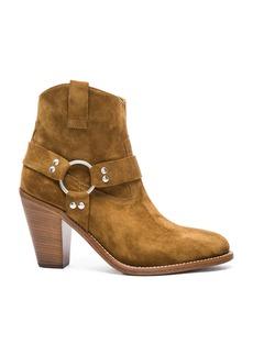Saint Laurent Suede Curtis Harness Boots
