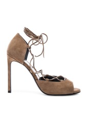 Yves Saint Laurent Saint Laurent Suede Kate Lace Up Heels
