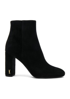 Saint Laurent Suede Loulou Pin Boots