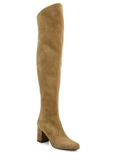 Yves Saint Laurent Saint Laurent Suede Over-The-Knee Block Heel Boots