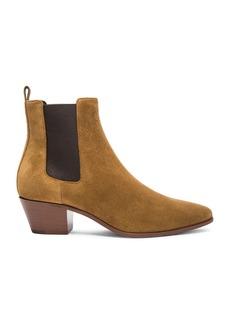 Saint Laurent Suede Rock Chelsea Boots