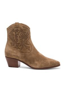 Saint Laurent Suede Rocky Boots