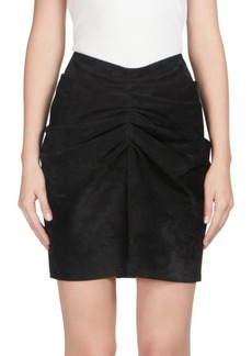 Yves Saint Laurent Suede Ruched Mini Skirt