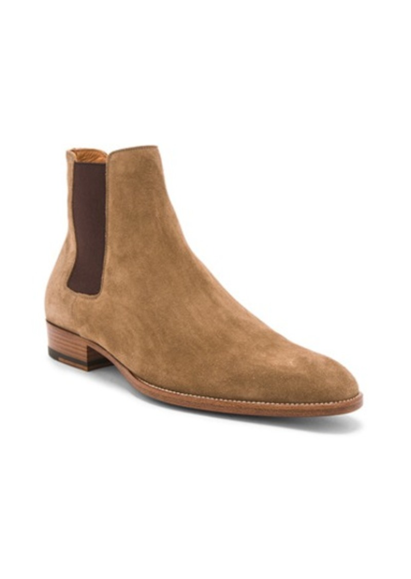 Yves Saint Laurent Saint Laurent Suede Wyatt Chelsea Boots