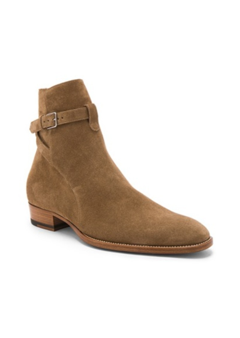 Yves Saint Laurent Saint Laurent Suede Wyatt Jodhpur Boots