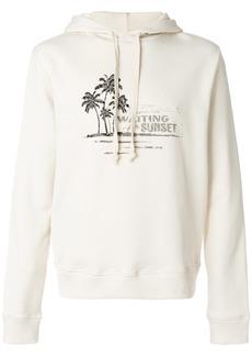 Yves Saint Laurent sunset drawstring hoodie