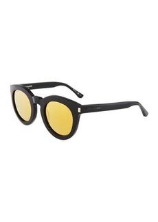 Yves Saint Laurent Saint Laurent Surf Unisex Chunky Round Plastic Sunglasses