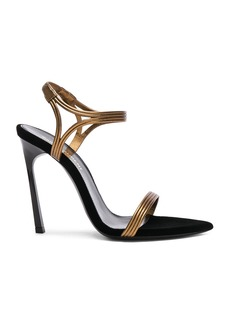 Saint Laurent Talitha Metallic Leather Sandals