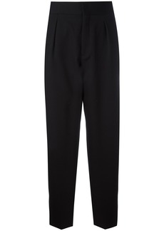Saint Laurent tapered flared cuff trousers - Black