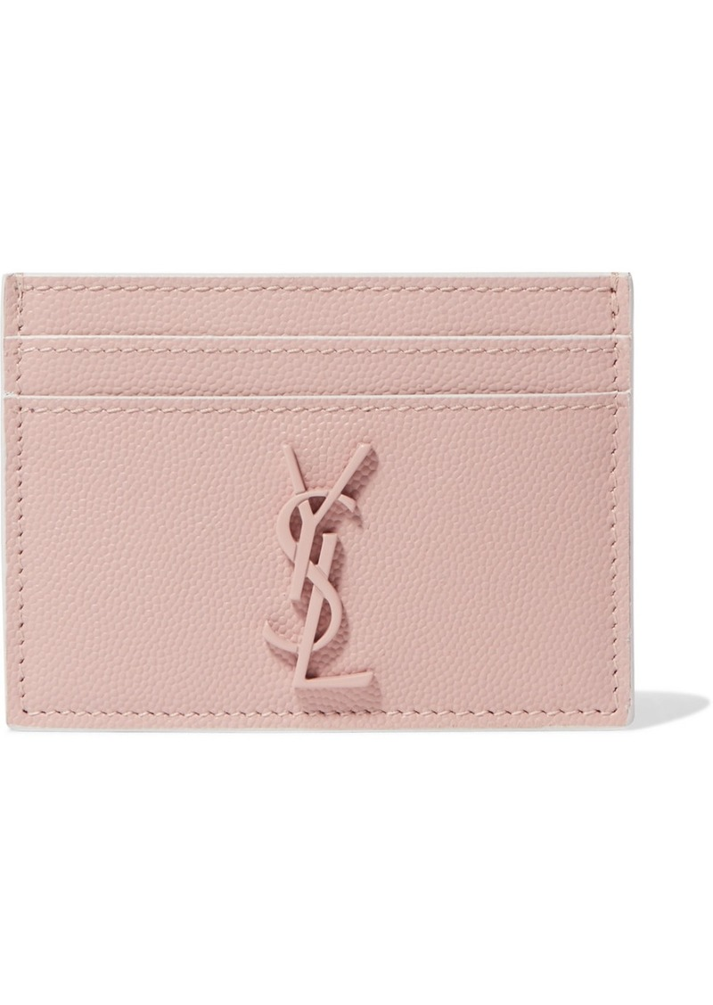 SALE! Saint Laurent Textured-leather cardholder d9ec19ab43