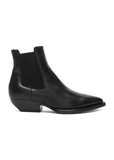 Saint Laurent Theo Leather Chelsea Boots