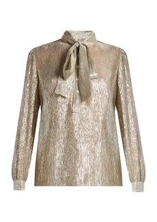 Saint Laurent Tie-neck long-sleeved blouse