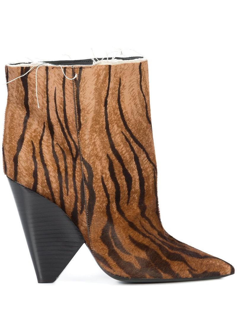 0a368bc3728 Yves Saint Laurent Saint Laurent tiger print boots - Brown