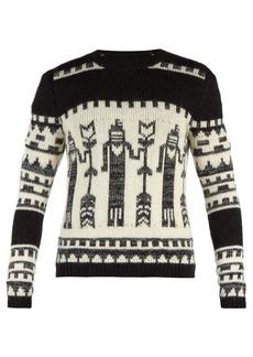 Yves Saint Laurent Saint Laurent Totem knit crew-neck sweater