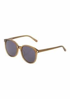 Yves Saint Laurent Saint Laurent Translucent Oval Plastic Sunglasses