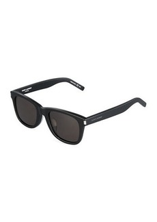 Yves Saint Laurent Saint Laurent Translucent Square Plastic Sunglasses