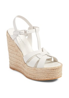 Saint Laurent Tribute Espadrille Wedge (Women)
