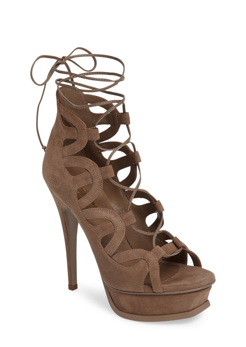 251464a88f3 Saint Laurent Saint Laurent 'Tribute' Lace-Up Platform Sandal (Women ...