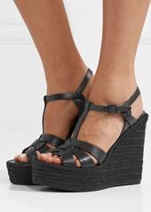 41c479208774 Saint Laurent Tribute leather espadrille wedge sandals Saint Laurent  Tribute leather espadrille wedge sandals ...