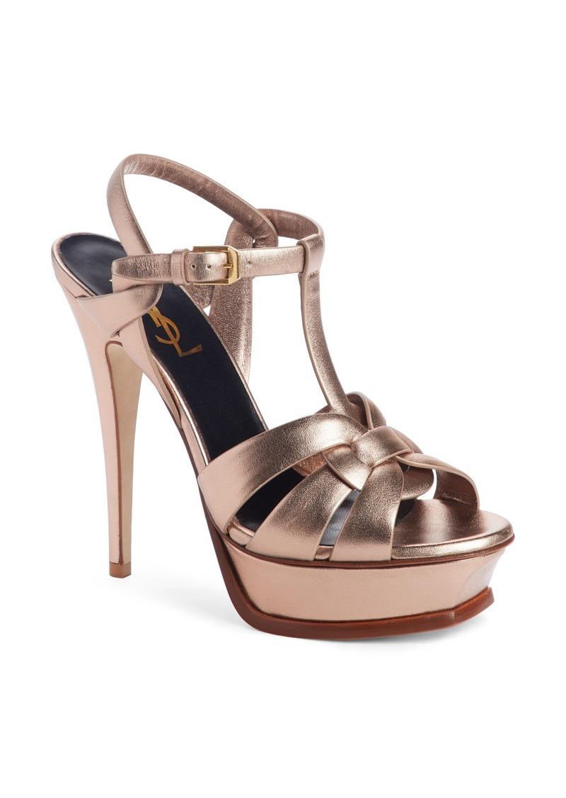 93cc82fbcec Saint Laurent Saint Laurent Tribute Metallic Platform Sandal (Women ...