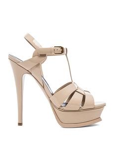 Saint Laurent Tribute Patent Leather Platform Sandals