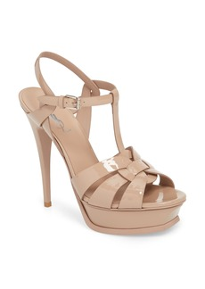 Yves Saint Laurent Saint Laurent Tribute T-Strap Platform Sandal (Women)