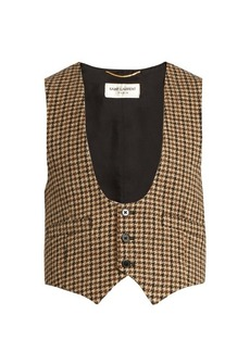 Saint Laurent Tweed wool waistcoat