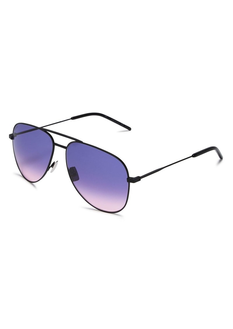 Saint Laurent Unisex Aviator Sunglasses, 59mm