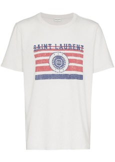 Yves Saint Laurent saint laurent university logo t-shirt