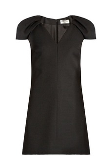 Saint Laurent V-neck wool-crepe dress