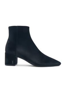 Saint Laurent Velvet Loulou Pin Ankle Boots