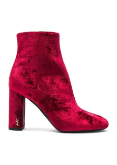 Saint Laurent Velvet Loulou Pin Boots