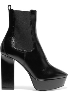 Yves Saint Laurent Vika leather platform ankle boots