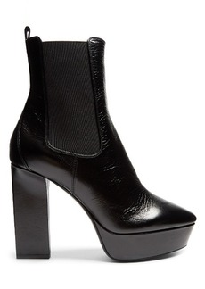 Saint Laurent Vika leather platform ankle boots