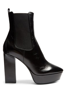 Yves Saint Laurent Saint Laurent Vika leather platform ankle boots