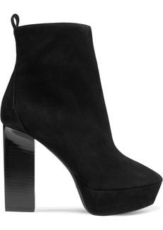 Saint Laurent Vika Suede Platform Ankle Boots