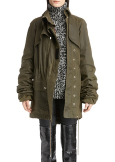 Yves Saint Laurent Saint Laurent Waxed Cotton Toile Parka