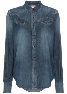 Yves Saint Laurent Saint Laurent western denim shirt - Blue