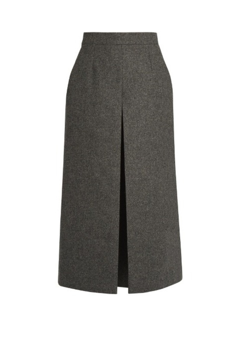 Yves Saint Laurent Saint Laurent Wide-leg wool culottes