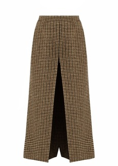 Saint Laurent Wide-leg wool-tweed culottes