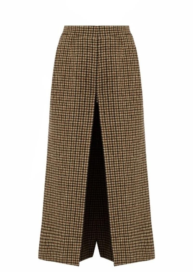 Yves Saint Laurent Saint Laurent Wide-leg wool-tweed culottes