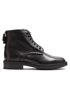 Saint Laurent William 20 whipstitch leather ankle boots