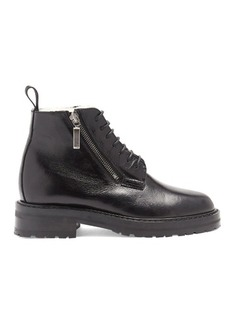 Saint Laurent William shearling-lined leather ankle boots